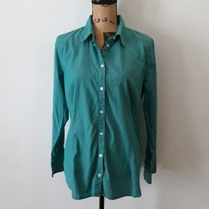 Apostrophe Minty Green Button Down Top Size XL